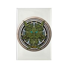 Willow Celtic Greenman Pentacle Rectangle Magnet