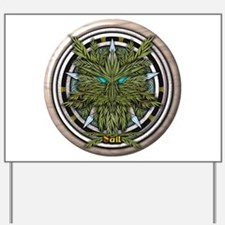 Willow Celtic Greenman Pentacle Yard Sign