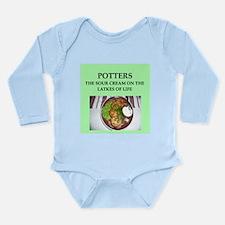 pottery Long Sleeve Infant Bodysuit