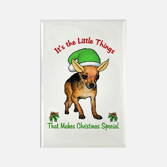 Chihuahua Christmas Rectangle Magnet (10 pack)