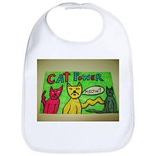 CAT POWER cartoon artwork design. Bib