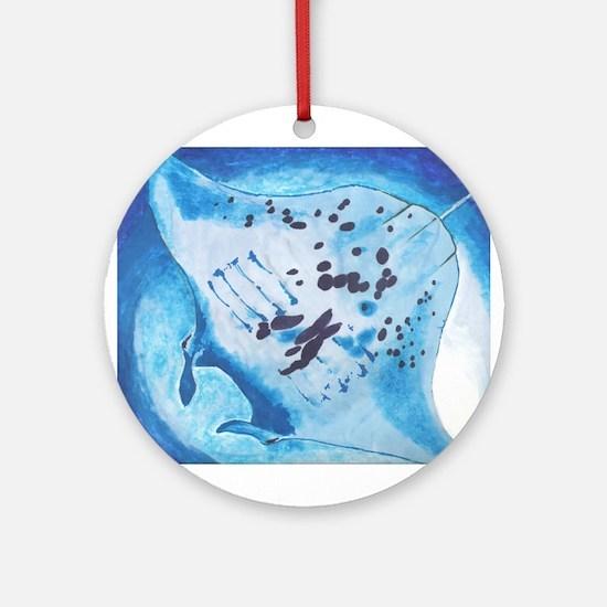 Manta Ray- God's Creatures Ornament (Round)