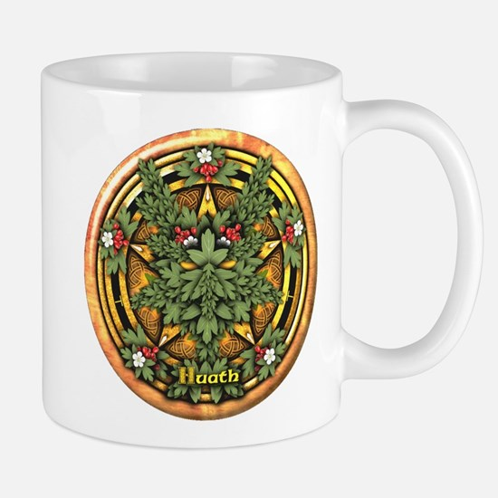 Hawthorn Celtic Greenman Pentacle Mug