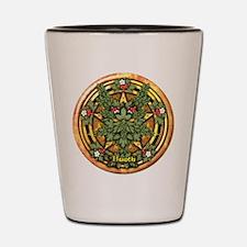 Hawthorn Celtic Greenman Pentacle Shot Glass