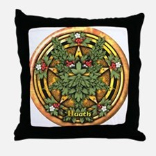 Hawthorn Celtic Greenman Pentacle Throw Pillow
