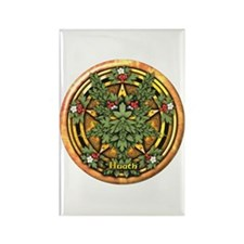 Hawthorn Celtic Greenman Pentacle Rectangle Magnet