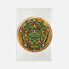 Hawthorn Celtic Greenman Pentacle Rectangle Magnet