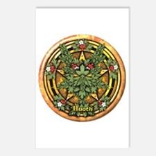 Hawthorn Celtic Greenman Pentacle Postcards (Packa