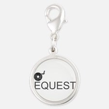 No Requests Silver Round Charm