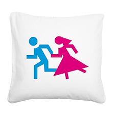 honeymoon Square Canvas Pillow