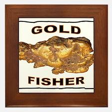 GOLD FISHER Framed Tile