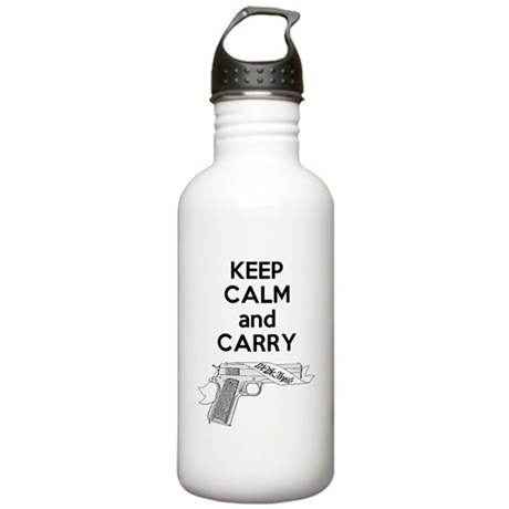 Keep Calm and Carry Stainless Water Bottle 1.0L