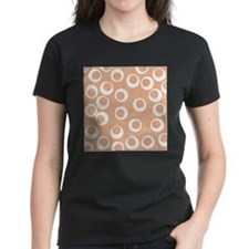 Beige Retro Ring Pattern. Tee