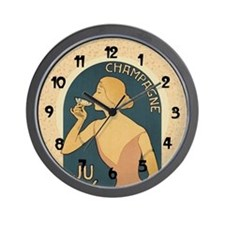 Vintage Champagne Art Wall Clock