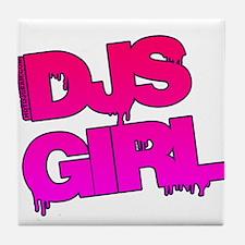 DJs Girl Tile Coaster