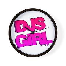 DJs Girl Wall Clock