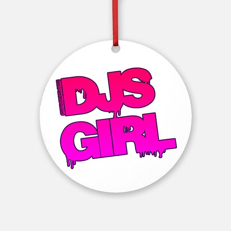 DJs Girl Ornament (Round)