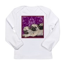 Pug Puppies Long Sleeve Infant T-Shirt
