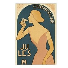 Vintage Champagne Art Postcards (Package of 8)