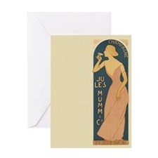 Vintage Champagne Art Greeting Card