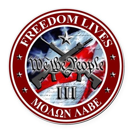 We The People Round Car Magnet