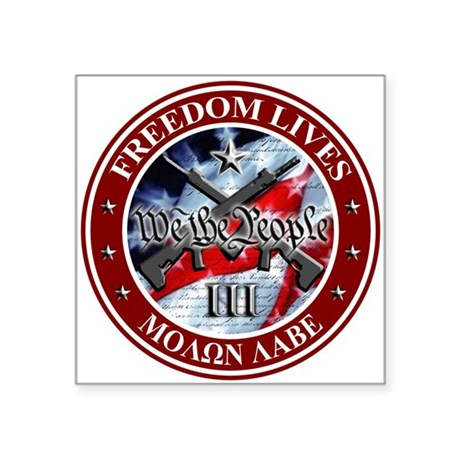 """We the People 3"""" x 3"""" Square Sticker"""
