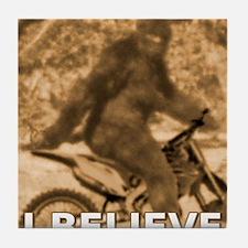 Sasquatch Dirt Bike Motocross Funny T-Shirt Tile C