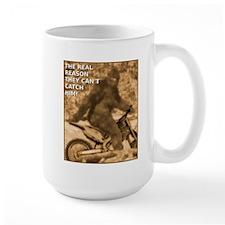 Sasquatch Bigfoot Big Foot Dirt Bike Funny T-Shirt