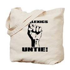 Dyslexia Dyslexics Untie Funny T-Shirt Tote Bag