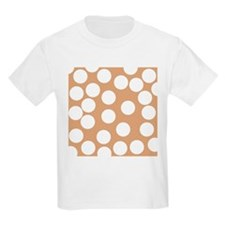 Dot Pattern, Brown. T-Shirt
