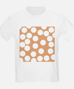 Dot Pattern, Brown. T-Shirt
