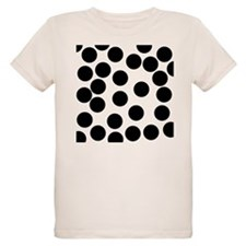 Black Dot Pattern. T-Shirt