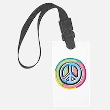 Colorful Peace Sign Luggage Tag