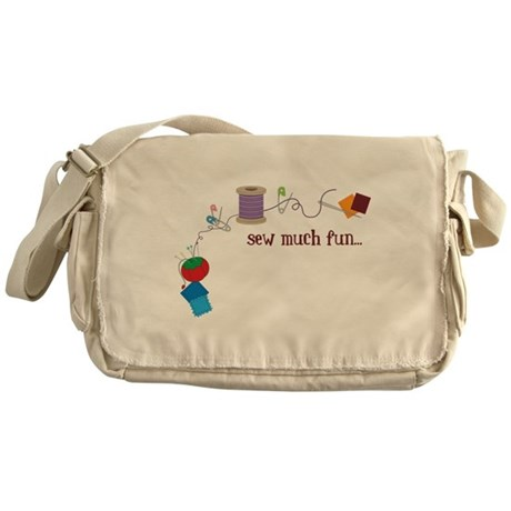 Sew Much Fun Messenger Bag