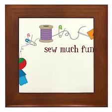 Sew Much Fun Framed Tile