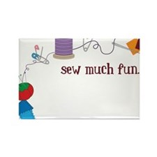 Sew Much Fun Rectangle Magnet