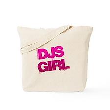 DJs Girl Pink Tote Bag