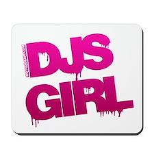 DJs Girl Pink Mousepad