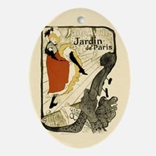 Vintage Cancan Poster Art Ornament (Oval)