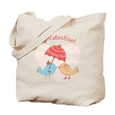 My Valentine Love Birds Tote Bag
