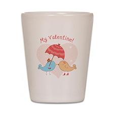 My Valentine Love Birds Shot Glass