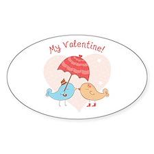 My Valentine Love Birds Decal
