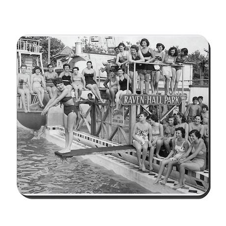 Coney Island Raven-Hall Pool 1824025 Mousepad