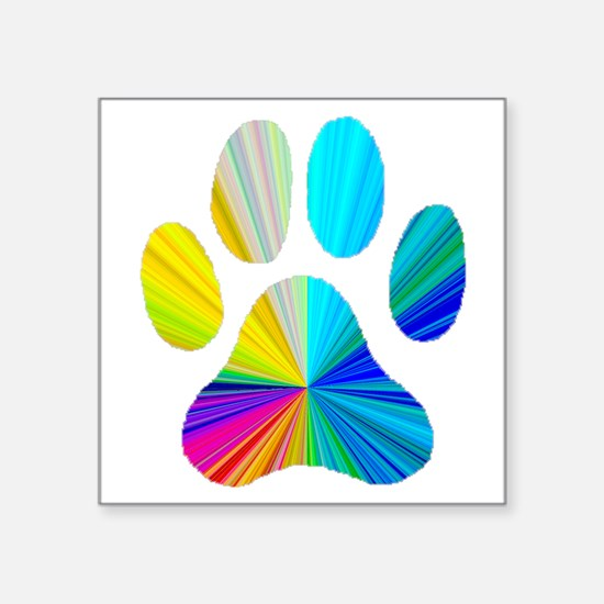Paw Print Oval Sticker