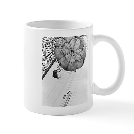 Coney Island Parachute Jump-1822997.bw.jpg Mug