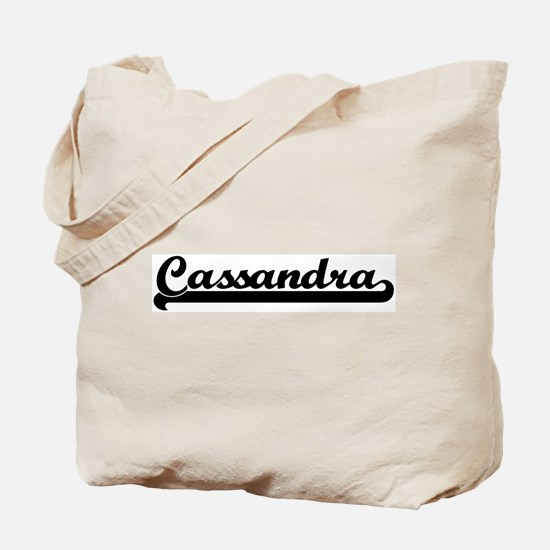 Black jersey: Cassandra Tote Bag