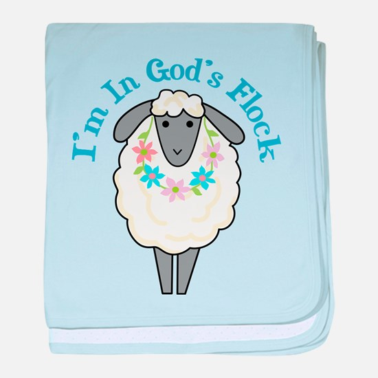 I'm in God's Flock baby blanket