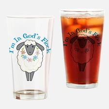I'm in God's Flock Drinking Glass