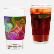 Colorful Swirl Pattern. Drinking Glass