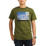 Saltire in the Sky Organic Men's T-Shirt (dark)